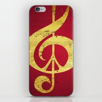 Music & Peace Sheet Musi… iPhone & iPod Skin