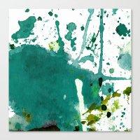 emerald green splash Canvas Print