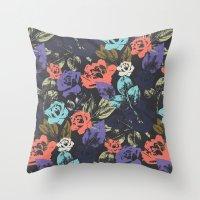 Midnight Garden Pop Throw Pillow