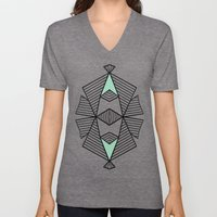 Triangle Tribal Mint Unisex V-Neck