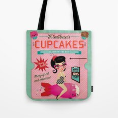 Mimibun's Cupcakes Retro Poster Tote Bag