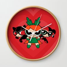 Supervillain Girls Wall Clock