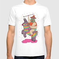 Pinata Party Mens Fitted Tee White SMALL