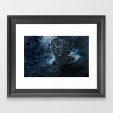 Open Water Horror Framed Art Print