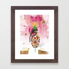 Monitored Framed Art Print