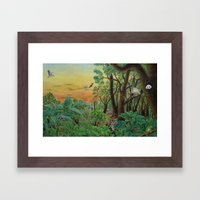 A Day of Forest (9). (the forest at night) Framed Art Print