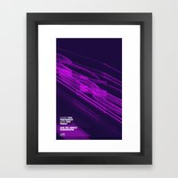 The Love Series 200 Purp… Framed Art Print