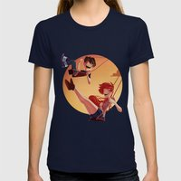 With You Womens Fitted Tee Navy SMALL