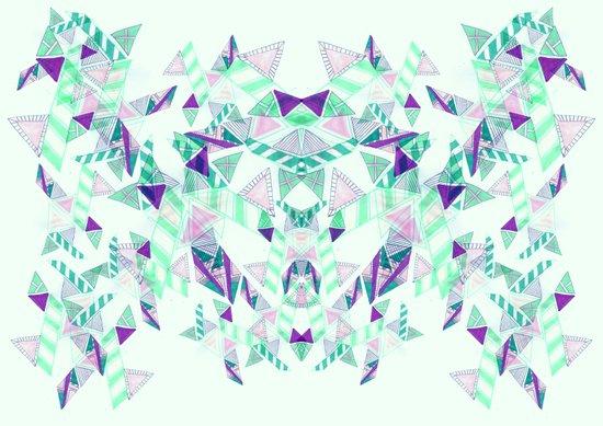 Kaleidoscopic print illustration  Art Print