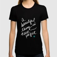 A Beautiful Thing (inverted) Womens Fitted Tee Black SMALL