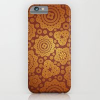 iPhone & iPod Case featuring Warm Gold Paisley Pattern by All Is One