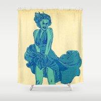 - summer marilyn - Shower Curtain
