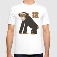 APE Mens Fitted Tee White SMALL