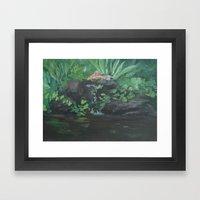 Fountain At The Zoo AC15… Framed Art Print