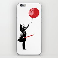 That's No Banksy Balloon (It's a Space Station) iPhone & iPod Skin