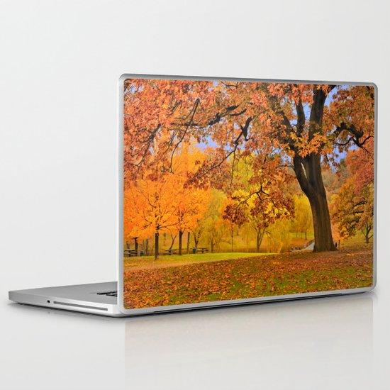 Fall at Larz Anderson Laptop & iPad Skin