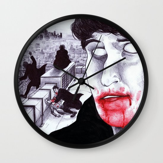 """Modern Vampires of the City"" by Cap Blackard Wall Clock"