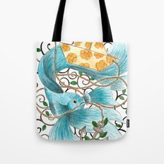 Underwater tales - the boat Tote Bag
