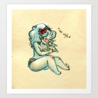 Bunny Kisses, Nose Wiggl… Art Print