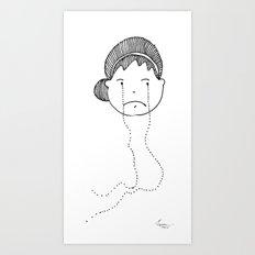 I am Sad Art Print