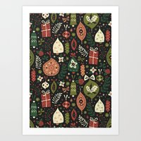 Holiday Ornaments  Art Print