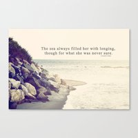 Filled With Longing Canvas Print