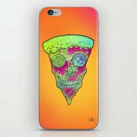 Skull Slice Neon iPhone & iPod Skin