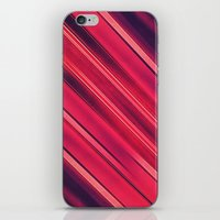 Moder Red / Black Stripe  Abstract Stream Lines Textuer Design  iPhone & iPod Skin