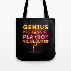 Iron Man: Genius Billionaire Playboy Philanthropist Tote Bag
