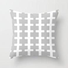 GRAY/WHITE  + Throw Pillow