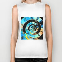 Infinite Time Blue Biker Tank