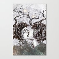 Bird Sings in The Apple Tree Canvas Print