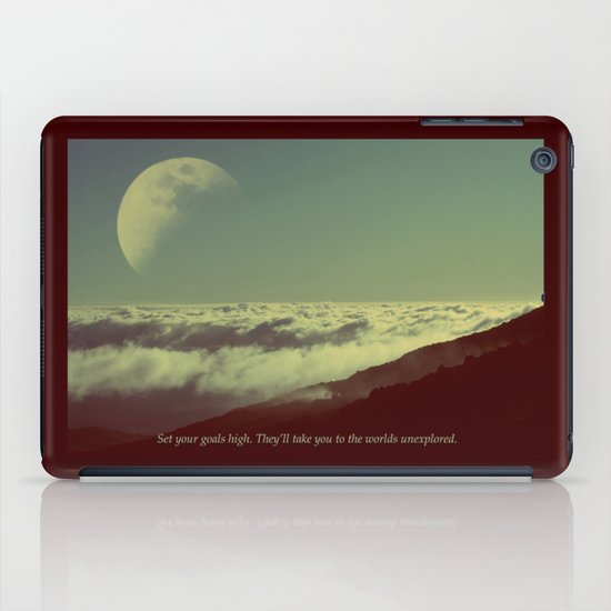 Set Your Goals High iPad Case