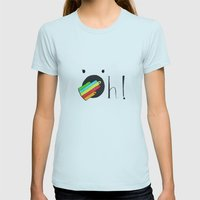 Oh! Womens Fitted Tee Light Blue SMALL