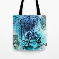 Turquoise Hamsa Tote Bag