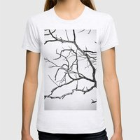 Broken sky Womens Fitted Tee Ash Grey SMALL