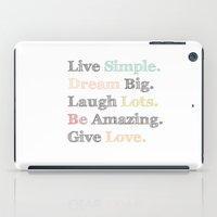 Inspiration Typography Quote Words Pastel  iPad Case