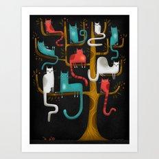 TREE CATS Art Print