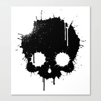 Splattered Skull Canvas Print