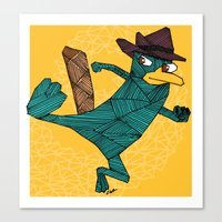 My Perry The Platypus Canvas Print