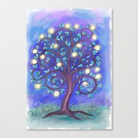 Blue Mystic Tree Canvas Print