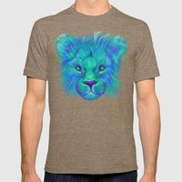 Oscar - Lion Painting Mens Fitted Tee Tri-Coffee SMALL