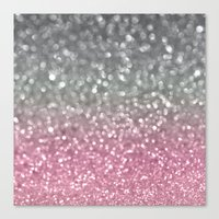 Gray and Light Pink Canvas Print