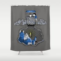 Nightlights and Oven Mitts Shower Curtain