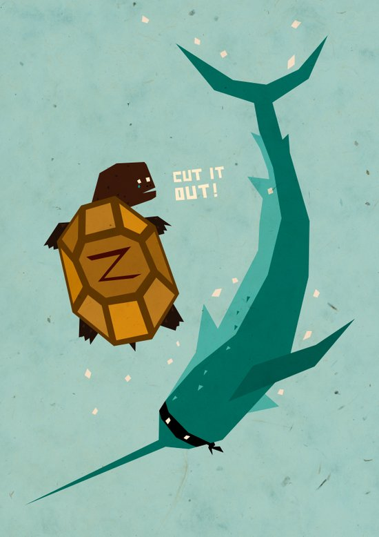 T is for Turtle Art Print