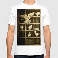 Pigeon Holed Mens Fitted Tee White SMALL