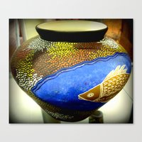 Aboriginal Art #2 - Pottery Canvas Print