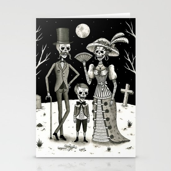 Family Portrait of the Passed Stationery Card