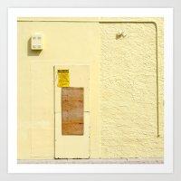 #WARNING - NO TRESPASSING - HOLLYWOOD FLORIDA Art Print