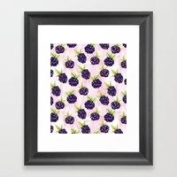 Blackberries Framed Art Print